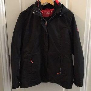 Black winter ski coat